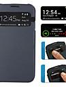 Mitte Transparent Back S-View Filp dekke saken for Samsung S4 I9500