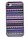 Purple Tones Coloured Drawing Pattern Black Frame PC Hard Case for iPhone 4/4S