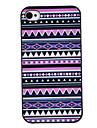 Paars Tones Gekleurde Tekening Pattern Black Frame PC Hard hoesje voor iPhone 4/4S