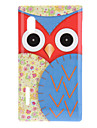 Staring Cartoon Owl with Red Face and Flora Wings Pattern Hard Case for LG E610 Optimus L5