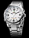 WEIDE® Men\'s Analog-Digital LED Full Steel Band Wrist Watch (Assorted Colors)