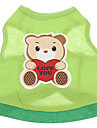 Dog Shirt / T-Shirt Green Summer Cartoon