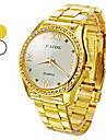 Unisex Analog Quartz Stål Armbåndsur i Guld og Diamant (Assorteret Farver