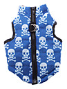 Dog Coat / Vest Blue Dog Clothes Winter Skulls