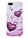 Matte Hearts and Butterflies in Flora Pattern PC Hard Case for iPhone 5/5S
