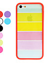 Transparent Rainbow Style TPU Frame Hard Case with Screen Guard and Cleaning Cloth for iPhone 5/5S (Optional Colors)