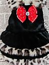 애완 동물 개를위한 Bowknot를 가진 우아한 모피 가죽 스타일 코트 (분류 된 색깔, 크기)