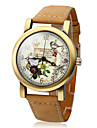 Women\'s Polymer Clay PU Analog Quartz Wrist Watch (Brown)