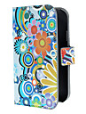 Exquisite Flowers and Circles Pattern PU Leather Case with Magnetic Snap and Card Slot for Samsung Galaxy Grand DUOS I9082