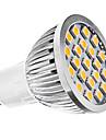 3W GU10 Lampadas de Foco de LED MR16 21 SMD 5050 240 lm Branco Quente AC 110-130 / AC 220-240 V
