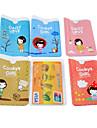 caso galletas tarjeta de credito patron de la muchacha de cuerpo completo (color al azar)