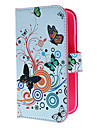 Circles and Flowers Pattern PU Leather Case with Magnetic Snap and Card Slot for Samsung Galaxy Grand DUOS I9082
