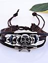 Bracelet Charmes pour Bracelets Bracelets en cuir Cuir Forme de Tete de Mort Mariage Regalos de Navidad Bijoux Cadeau Brun