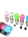 Skull Style LED Blinkande motorcykel eller bildäck luftventil Tätning Cap (Random färg, 2 st)