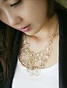 женская мода вырезали цветочный ожерелье