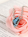 Korean jewelry diamond drop of blue butterfly necklace N678