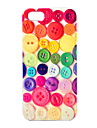 Joyland ABS Colorful Buttons Pattern Back Case for iPhone 5/5S