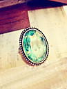 Cute Little Peacock Peacock Feathers Oval Seccion acrilico Anillo Retro
