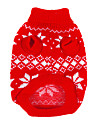 Perros Sueteres / Ropa / Ropa Rojo Invierno Copo Navidad / Ano Nuevo