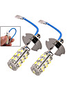2 x Car H3 25 SMD LED White Headlight Fog Light Lamp Bulbs