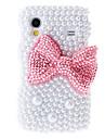 Red bowknot Maleri Mønster Rhinestone beskyttende poser til Samsung Galaxy S5830