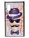 Cap Glass Mustache Pattern Hard Case for LG E612(Optimus L5)