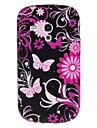Silicon Gel Butterfly Flower Hard Case Cover for Samsung Galaxy S3 mini i8190