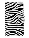 Zebra Stripe Pattern Full Body Case with Card Slot for Sony L36h (Xperia Z)