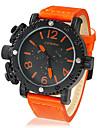 Men's Big Round Dial PU Band Quartz Analog Wrist Watch (Assorted Colors) Cool Watch Unique Watch