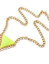 Eruner®European Style Triangle Pendant Necklace