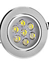 8W 7 High Power LED 560 LM Cool White LED Ceiling Lights AC 220-240 V