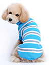 Cat Dog Sweater Dog Clothes Casual/Daily Keep Warm Stripe Blue