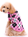 Dog Sweater / Clothes/Clothing Pink Winter Plaid/Check Plaid