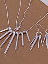 Набор украшений Мода Серебрянное покрытие Серебряный Ожерелья Серьги Для Для вечеринок Особые случаи День рождения Обручение Повседневные