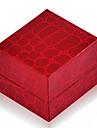 Vintage кожа красная Шкатулка для кольца (красный) (1 шт)
