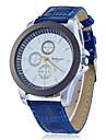 Round Dial Pu cuarzo de la venda reloj del analogo de la Mujer (colores surtidos)