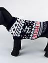 Cães Súeters Azul Roupas para Cães Inverno Natal