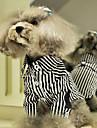 Dog Shirt / T-Shirt Blue Dog Clothes Summer Spring/Fall Stripe Fashion Casual/Daily