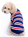 강아지 스웨터 강아지 의류 스트라이프 다크 블루