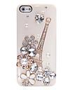 Zircon Eiffel Tower Pattern Metal Jewelry Back Case for iPhone 5/5S
