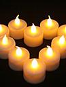 1PCS LED Vela amarilla en forma de decoracion de la fiesta de la boda de suministro de luz (4.5x3.9x3.9cm)