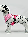 Dog Harness LED Lights Blue / Pink Textile