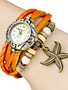 Women's Star Fish Pendant Leather Band Quartz Analog Bracelet Watch (Assorted Colors) Cool Watches Unique Watches