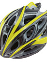 Outdoor Sports Classic PC, EPS and Carbon Fiber Materials Cycling Helmets(22 Vents,Yellow+Black)