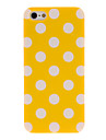 Color Polka Dot Rubberized PC Hard Case for iPhone 5/5S (Assorted Colors)