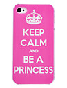 Beautiful Crown Pattern PC Material Hard Case for iPhone 4/4S