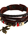 Punk 7cm Men\'s coffee Leather Leather Bracelet (1 Pc)