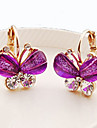 Stud Earrings Crystal Crystal Rhinestone Alloy Purple Green Blue Jewelry Daily Casual 1 pair