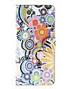Для Кейс для LG Кошелек / Бумажник для карт / со стендом / Флип Кейс для Чехол Кейс для Цветы Твердый Искусственная кожа LG LG Nexus 5