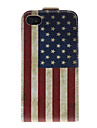 Amerika Nationalflagge Muster PU-Leder-Voll Bady Huelle fuer das iPhone 4/4S